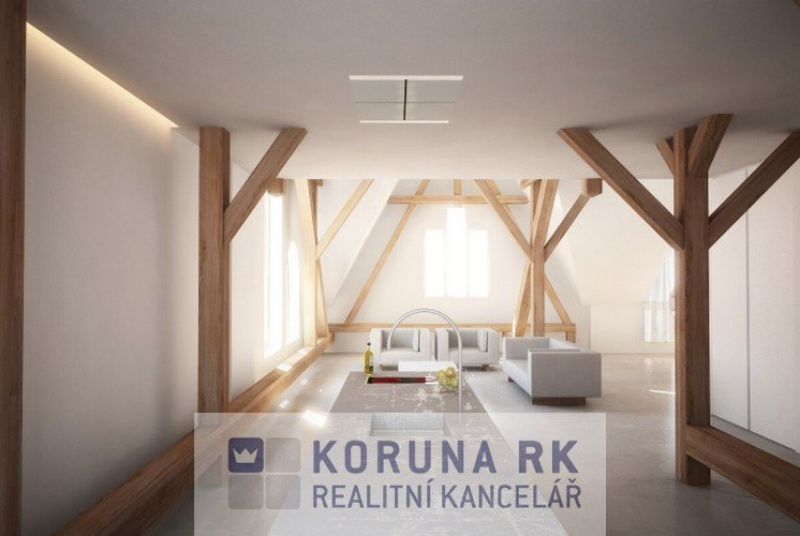 Prodej rozestavěného bytu 4+kk s ateliérem, České Budějovice
